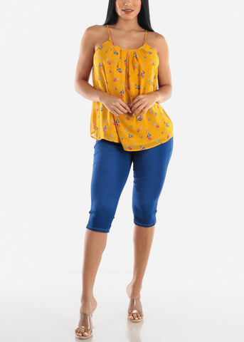 Image of Floral Sleeveless Casual Top