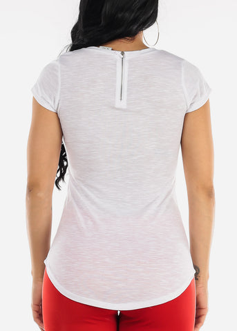 Image of Short Sleeve White Top