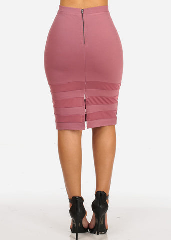 Image of Sexy High Rise Mauve Skirt
