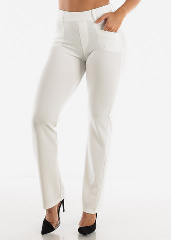 Image of White Dressy Pants