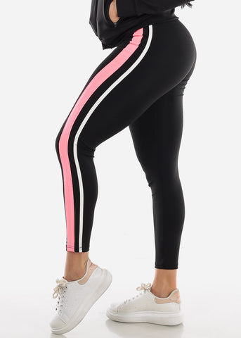 Image of Activewear Pink & Black Pants