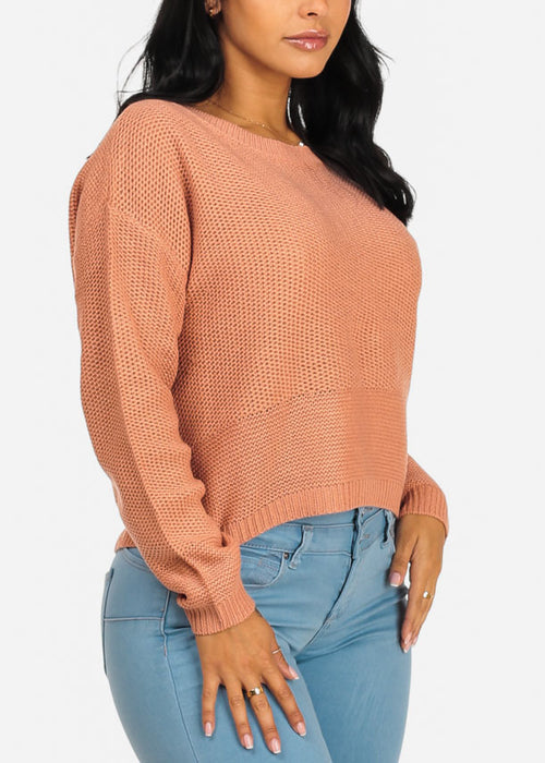 Basic Mauve Knitted Sweater