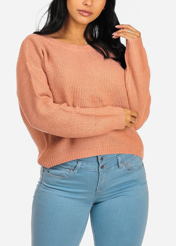 Image of Basic Mauve Knitted Sweater