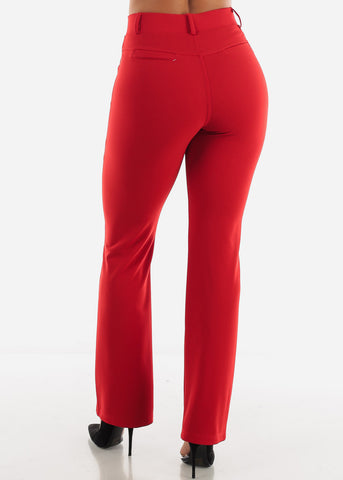 Red Dressy Pants