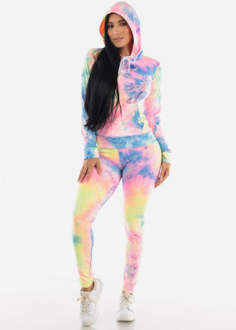 Image of Tie-dye Loungewear Set