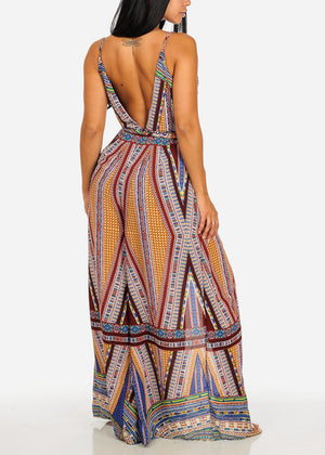 Sexy Multicolored Printed Jumpsuit