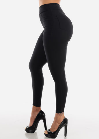 High Waisted Black Skinny Pants