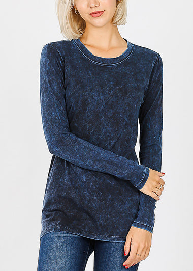 Sapphire Mineral Wash Tee