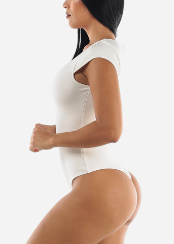 White Career Wear Bodysuit