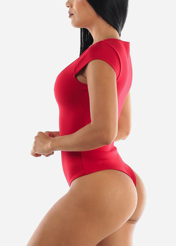 Red Career Wear Bodysuit