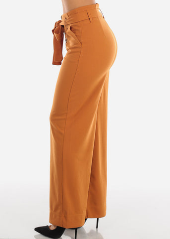 High Rise Orange Trouser Palazzo Pants PWD7420