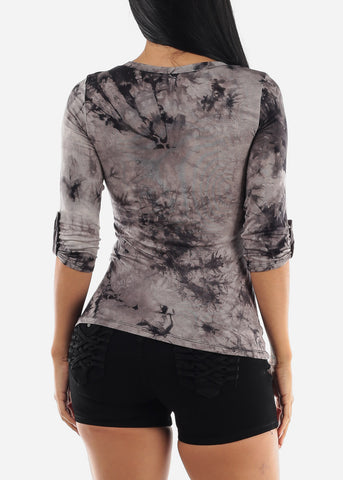 Black Tie Dye Top