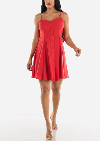 Image of Sleeveless Red Dress