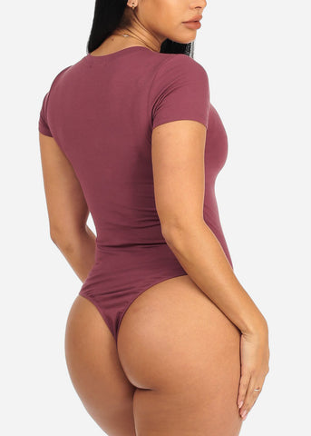 Girls Graphic Mauve Bodysuit