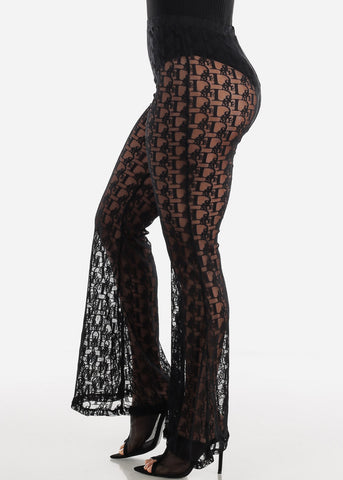 Image of See Through Black Palazzo Pants