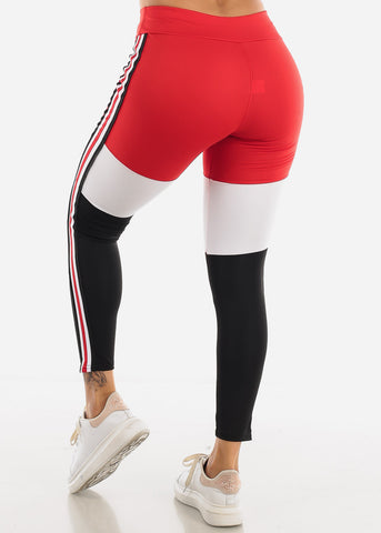 Activewear Red Stripe Leggings