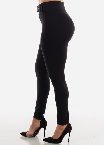 Black Belted Dress Pants