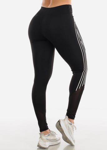 Image of Activewear High Waisted Black Leggings
