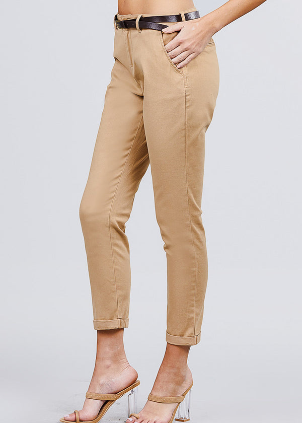 Cotton Khaki Dress Pants