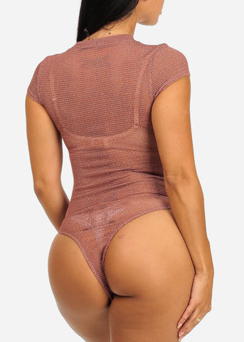 Sexy Rose See-Through Bodysuit