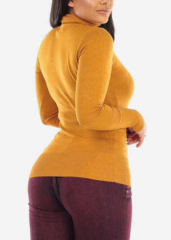 Image of Mustard Turtle Neck Sweater