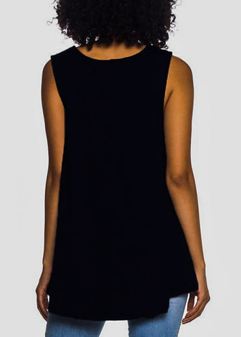 Sleeveless Black Tunic Top