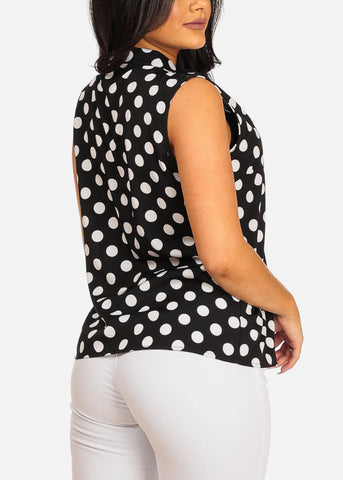 Stylish Black Polka Dot Top