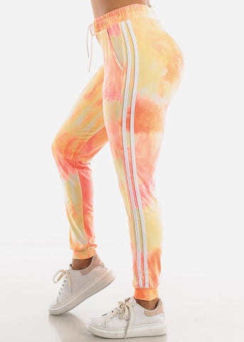 Image of Orange Tie Dye Joggers