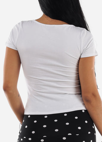 Image of Basic Square Neck White Top