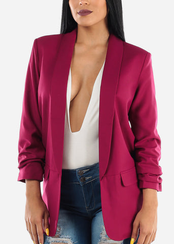 Image of Oversized Burgundy Blazer