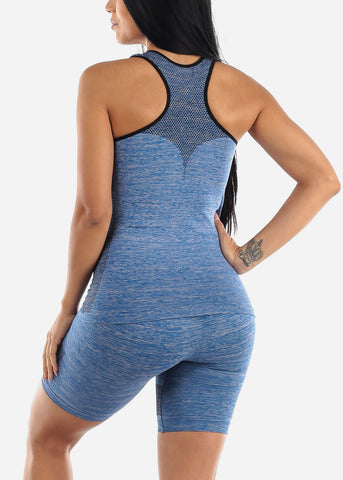 Activewear Blue Top & Shorts (2 PCE SET)