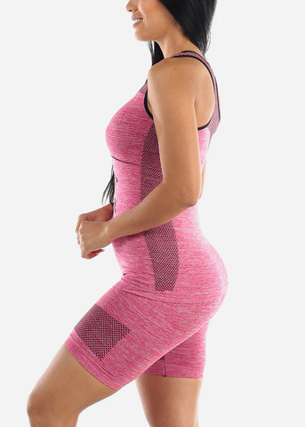 Image of Activewear Pink Trim Top & Shorts (2 PCE SET)