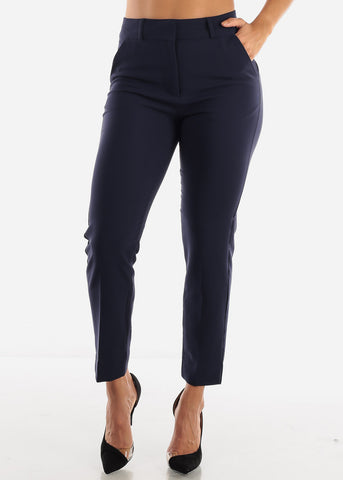 Image of Navy Dressy Pants