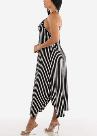 Image of Black & White Stripe Maxi Dress