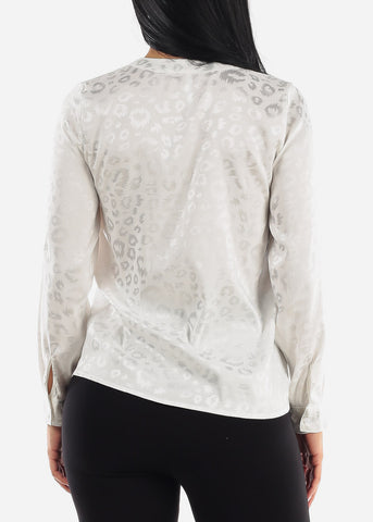 Image of Ivory Printed Top