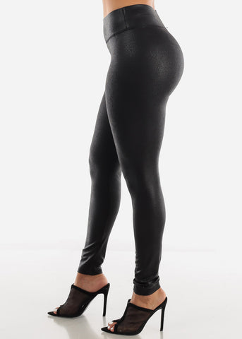 Metallic Snake Leggings