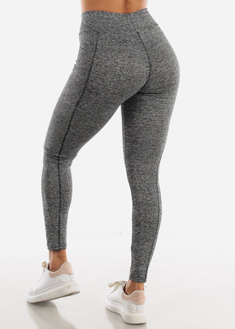 Image of Activewear High Rise Grey Leggings