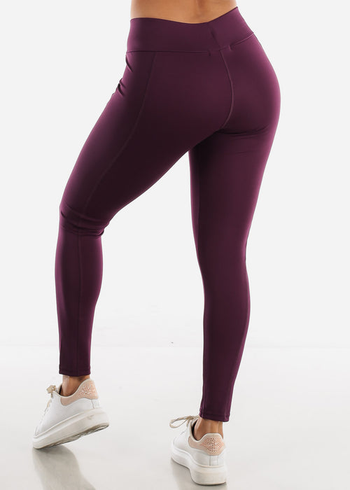 Activewear High Rise Purple Leggings