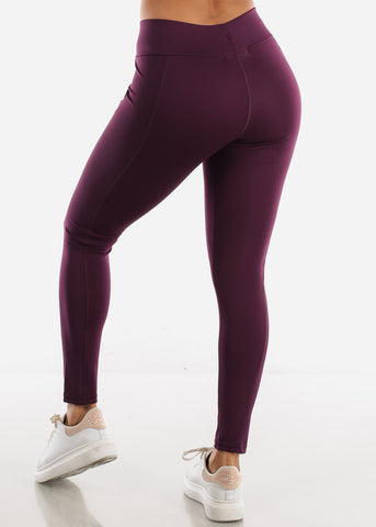 Image of Activewear High Rise Purple Leggings