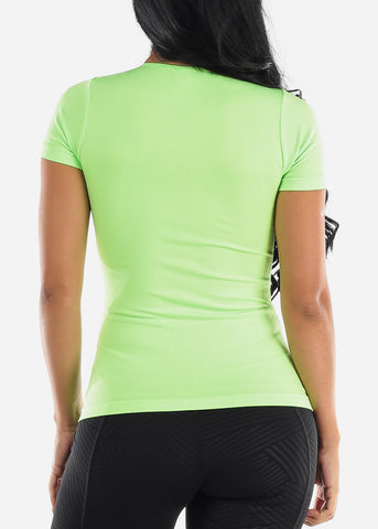 One Size Short Sleeve Top (Neon Green)