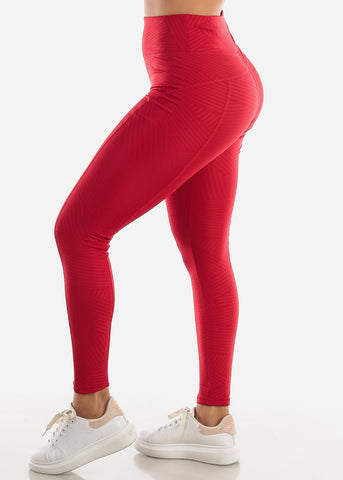 Activewear Red Leggings