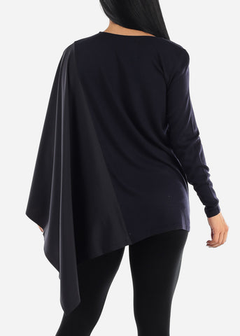 Half Batwing Stylish Sweater