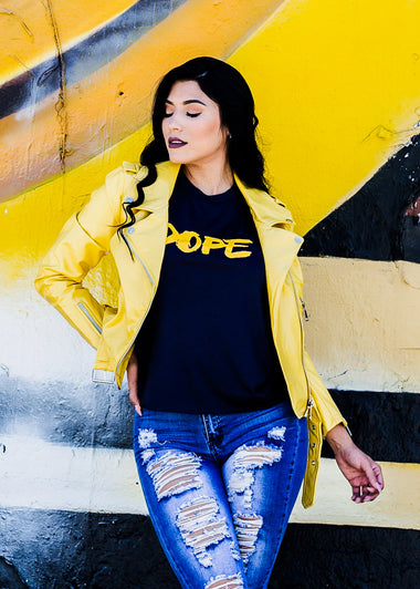 "Navy Graphic Tee ""Dope"""