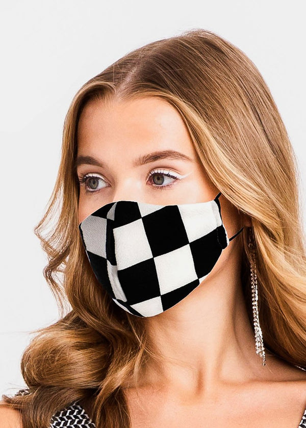 Chess Board Face Cover