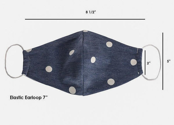 Dotted Denim Face Cover