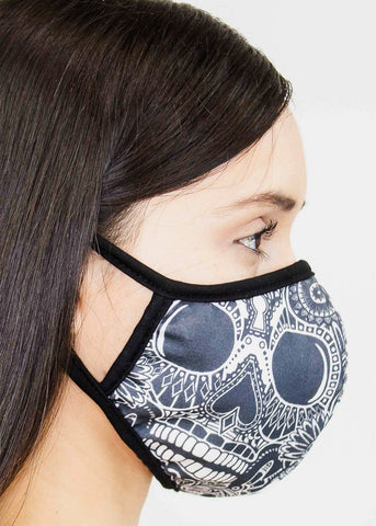 Image of Floral Skull Face Cover