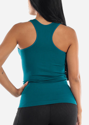 One Size Racerback Seamless Top (Teal)