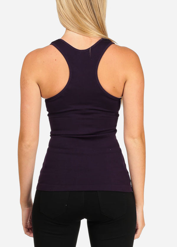 One Size Purple Racerback Top