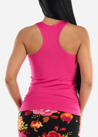 Image of One Size Racerback Seamless Top (Fuchsia)