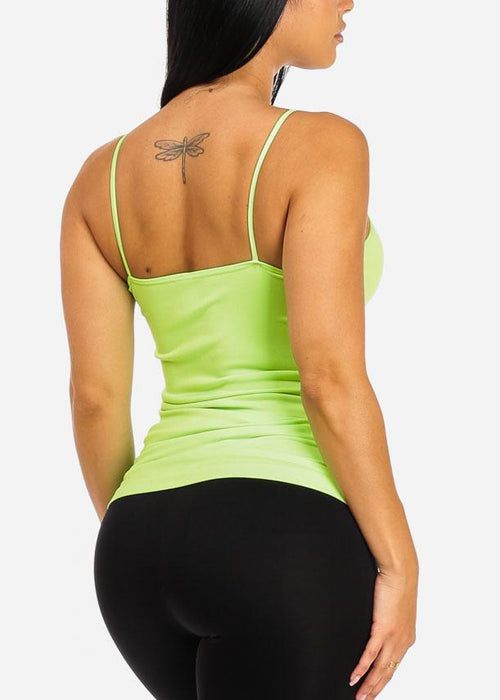 Seamless Spaghetti Top (Green)